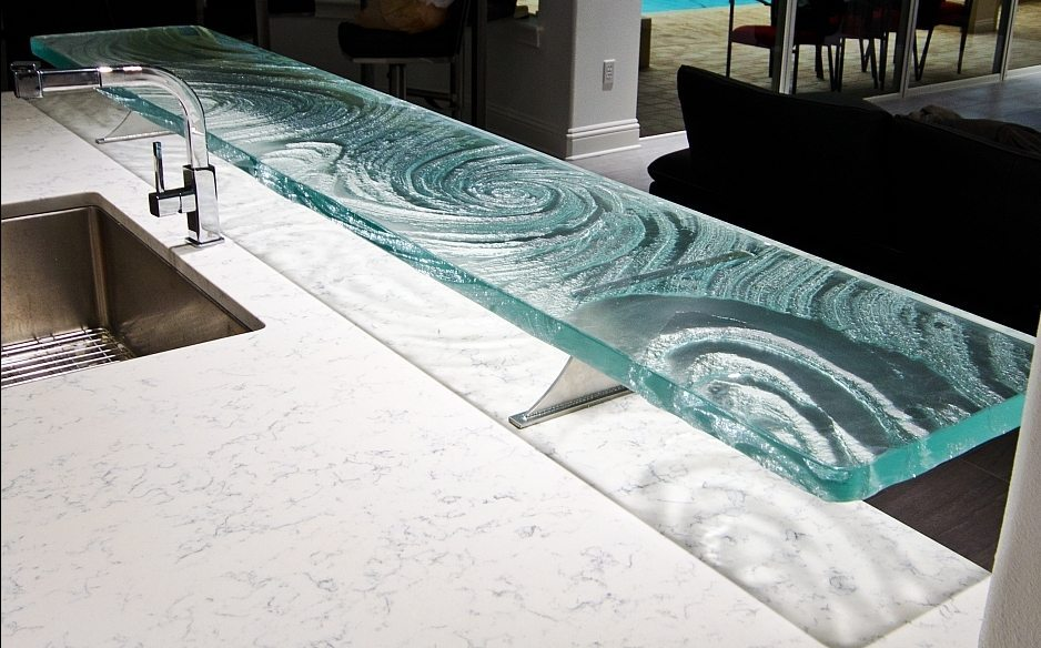 Glass Countertop Options : Glass Countertop and Bar Designs. - Downing Designs