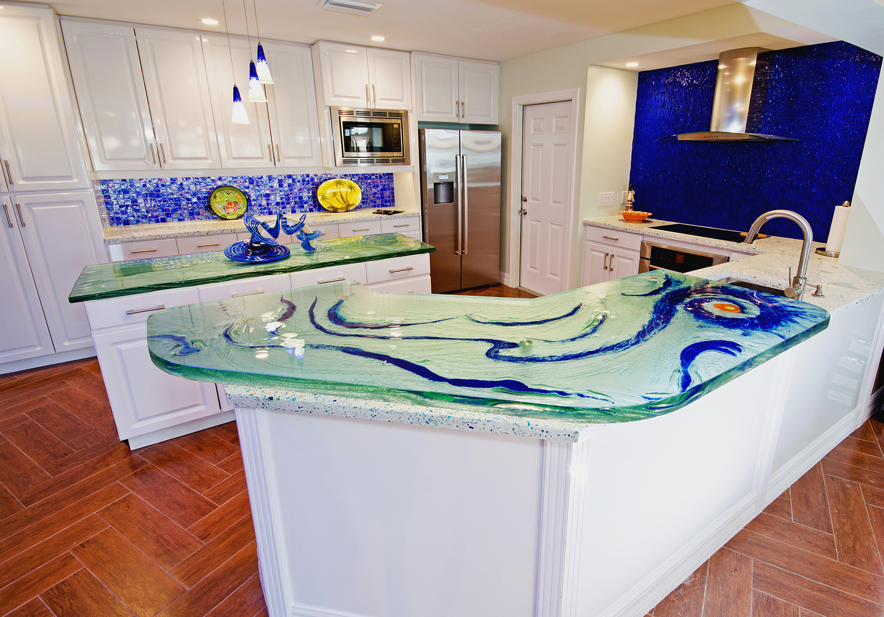 2017 buying guide to custom glass countertops white glass