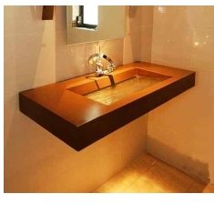 Concrete and Glass Sinks
