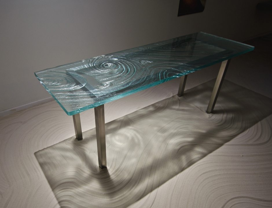 Thermoformed, Tempered, Annealed, And Fused Glass Countertops.