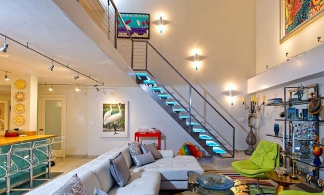 Glass Stair Treads LED