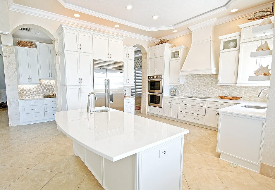 Best White Glass Countertops Kitchen. Stain free countertops look beautiful