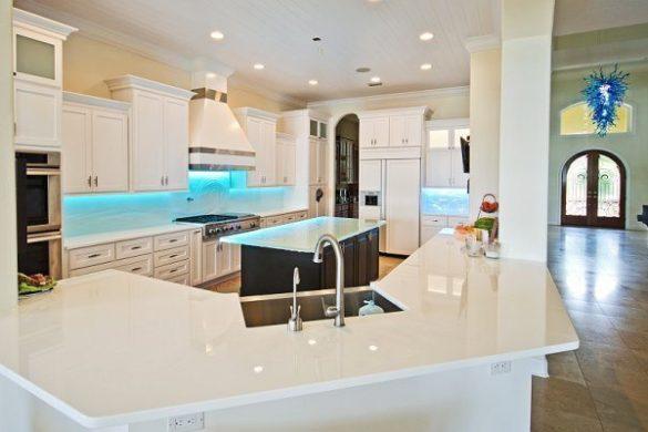White Glass countertop