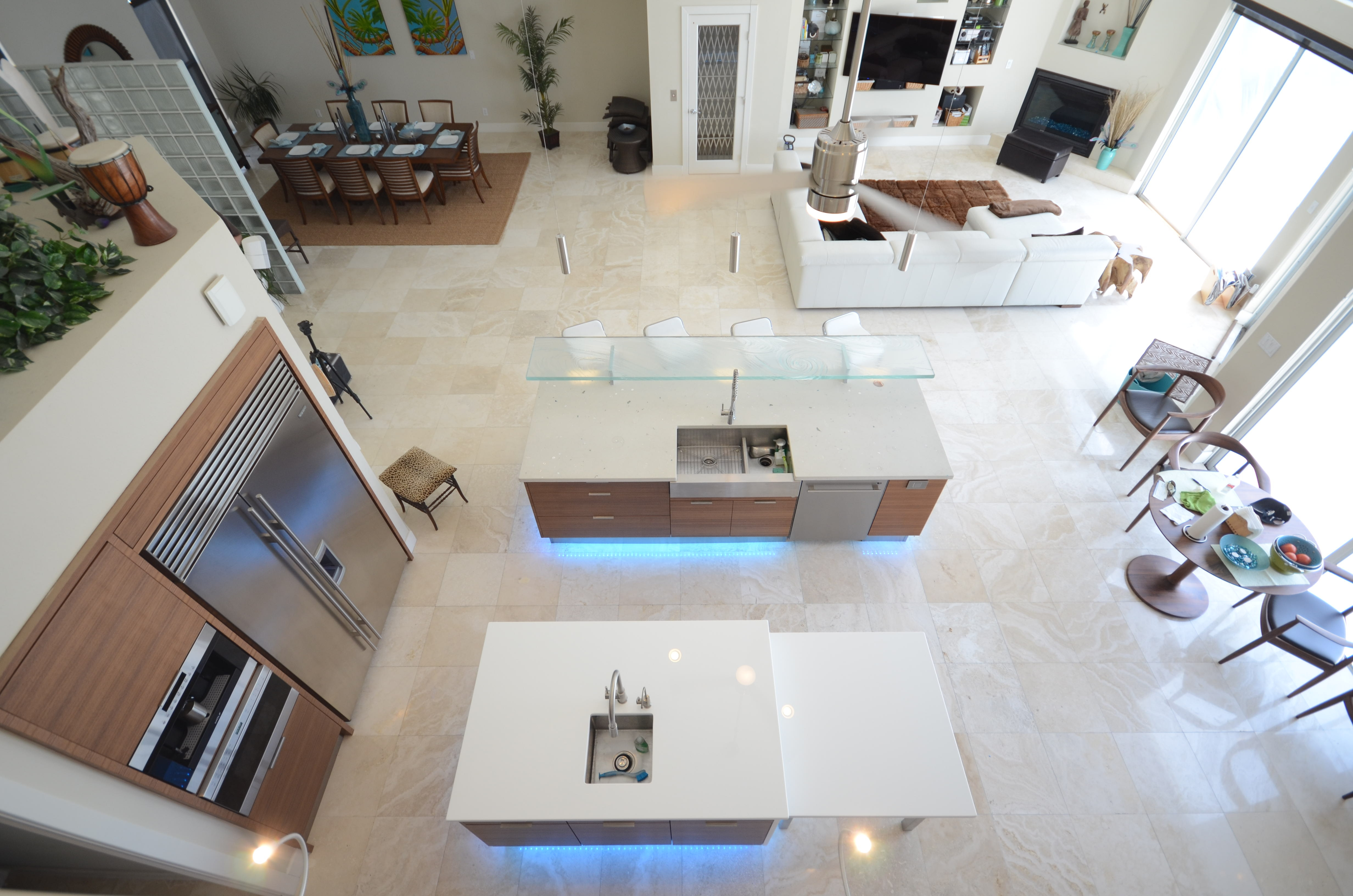 White Glass Countertops