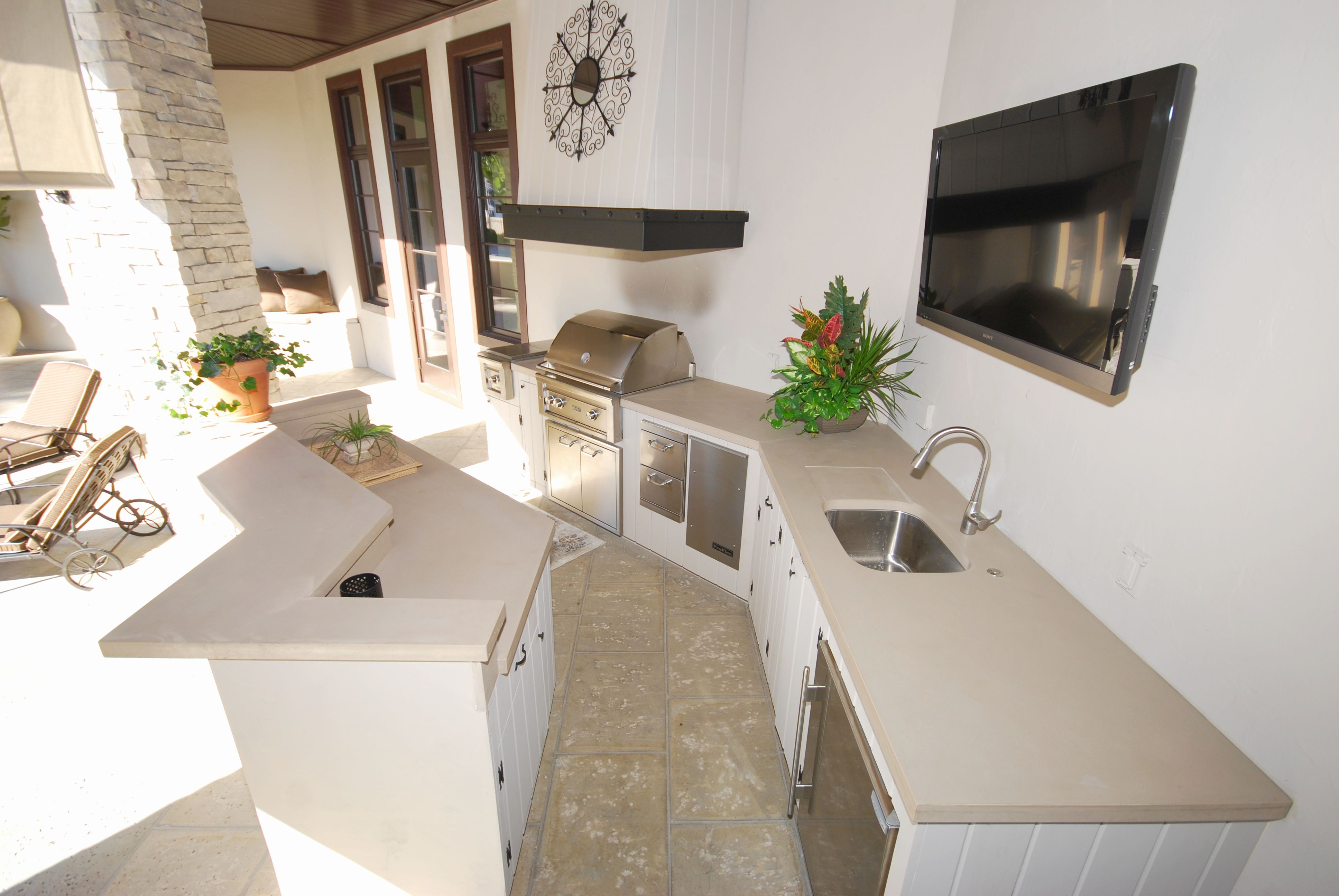 fabulous cement kitchen concrete countertops   Concrete Countertops – Downing Designs