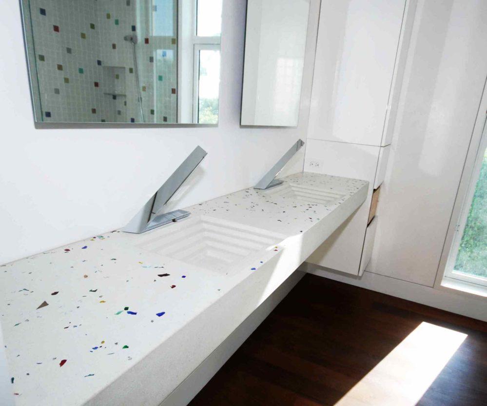 Custom Concrete Sink white color
