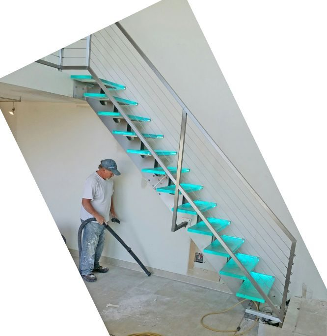 Glass Staircase And Stainless Steel Stair