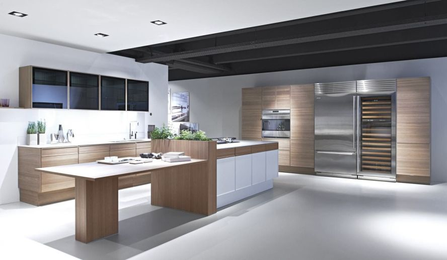 White countertops on wood cabinets 2