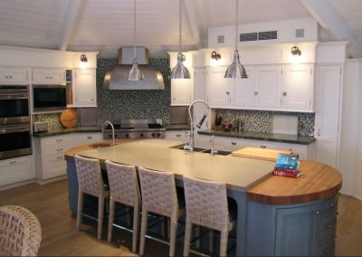 Captiva Island Concrete Countertop with light green color in beautiful coastal home by AlliKriste Tampa Florida