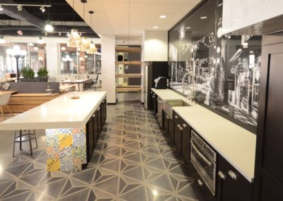 Light GRey Concrete countertop in Tampa Florida CDS West Elm Showroom in Ybor City