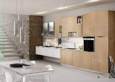 aBB white glass on wood cabs lineare cucina futurofuturo small