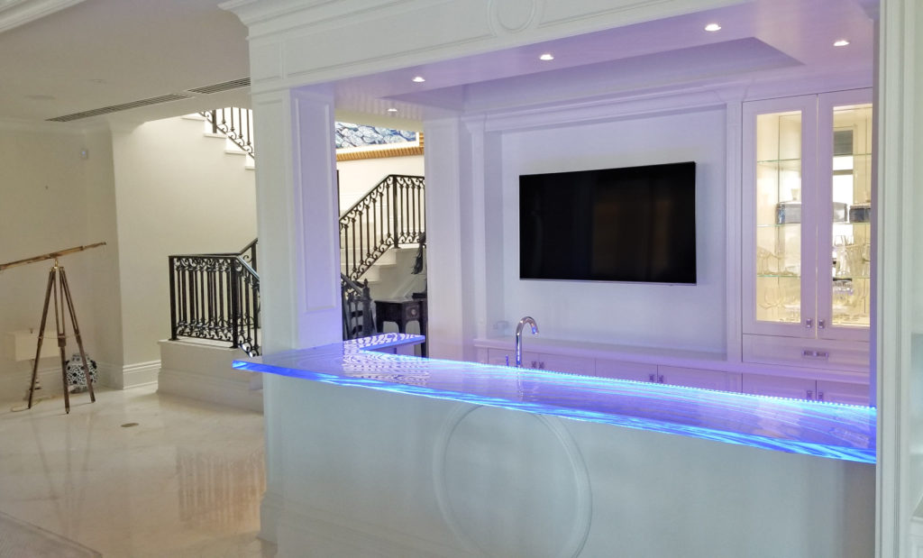 Glass Countertop with LED's