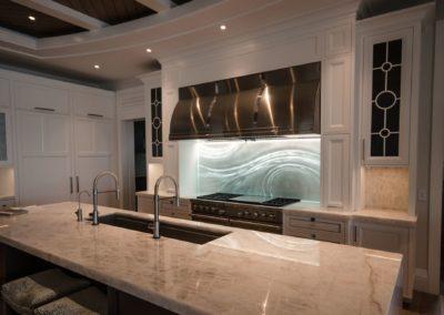 Large Kitchen Glass Backsplash