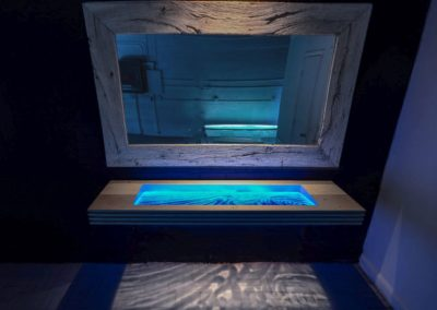 Large Glass Sink with LED illumination