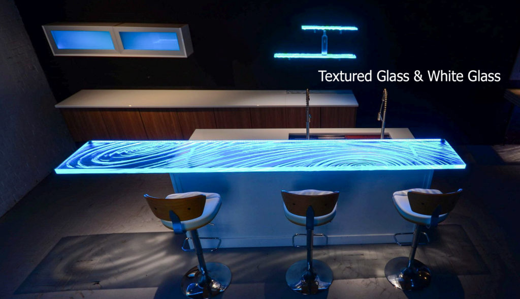 Textured Glass countertops