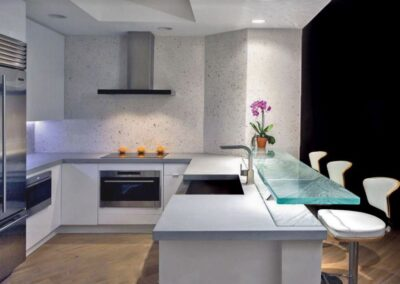 Contemporary Kitchen Glass High Bar in Tampa Florida