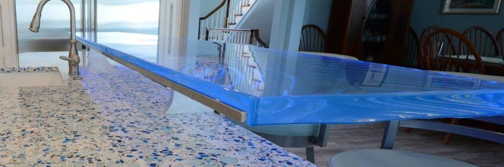 LED light for glass countertops