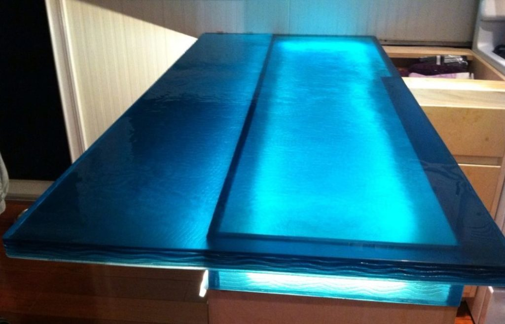 Underlit Glass Countertop