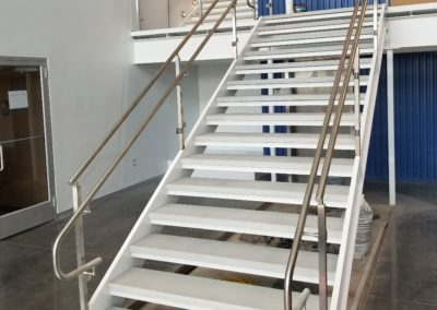 Custom Commercial  Concrete Stair Treads light grey at Hydrologic Sarasota Florida