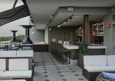 "3"" Thick Concrete Countertop at Epicurean Hotel Roof top Bar in Tampa Florida"