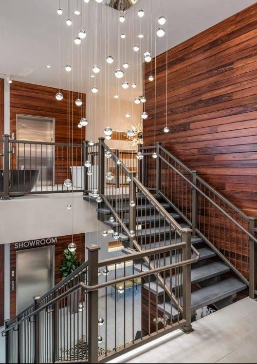 Custom Concrete Stair Treads Medium Grey