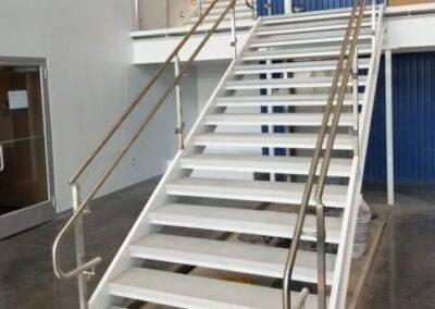 Custom Commercial  Concrete Stair Treads light grey at Hydrologic Sarasota Florida