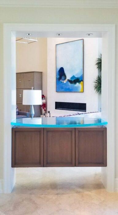Port Royal Florida Floating Glass Bar and LED lighting