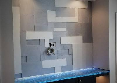 concrete wall tile custom