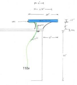 Glass High bar dimensions