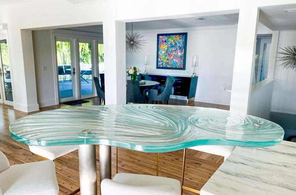 Hand Drawn shape Glass Countertop