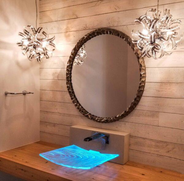 Glass Sink Custom LED lighted 1