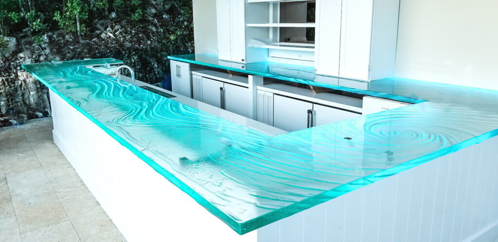 Glass countertop sequence