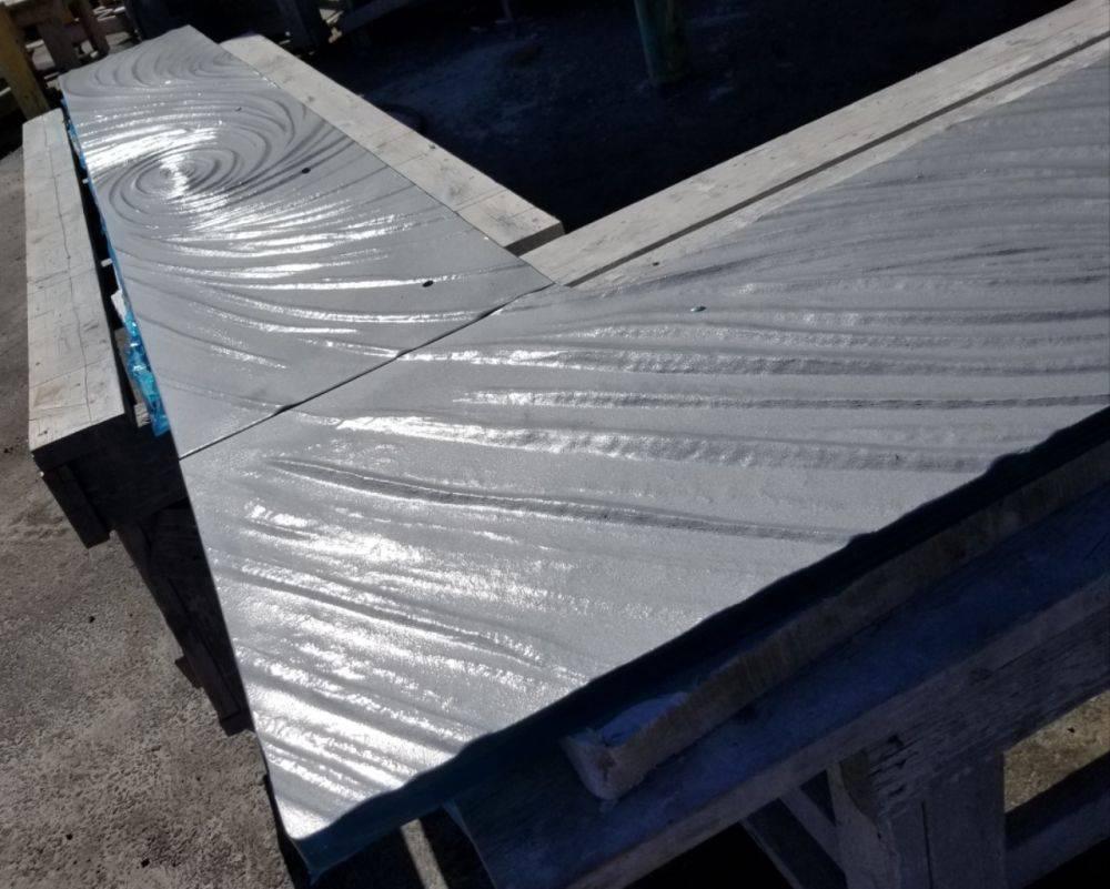 Textured Glass countertop seam