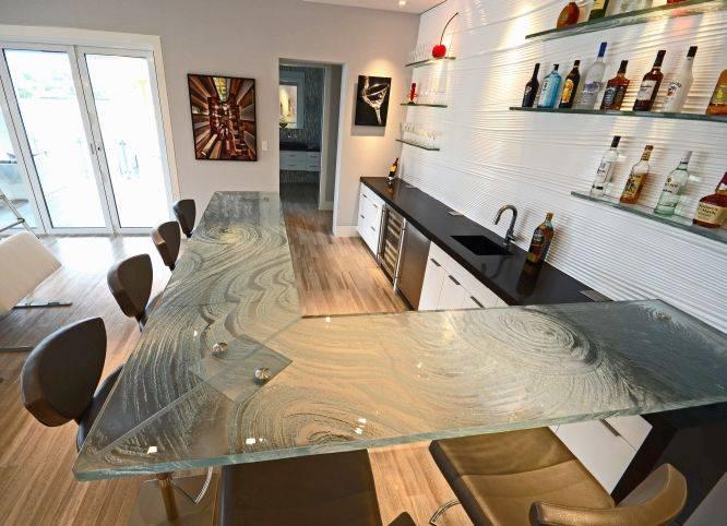 glass countertop high bar